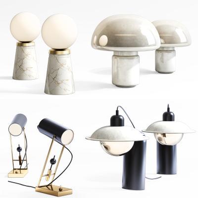 现代台灯组合