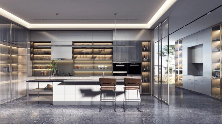 现代轻奢厨房