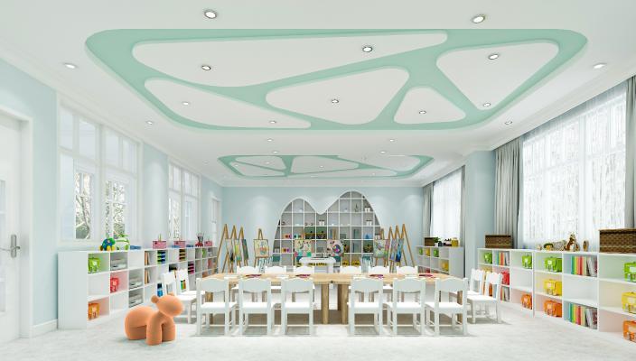 现代幼儿园 画室