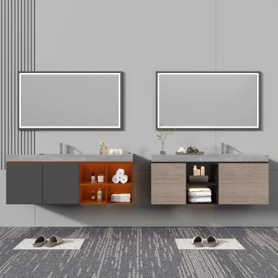 現代浴室柜架 方形鏡子