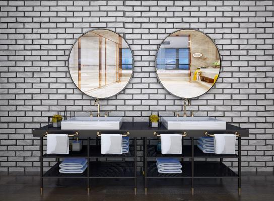 现代洗手台 现代卫浴柜 现代面盆 北欧卫浴柜 工业卫浴柜 工业洗手台