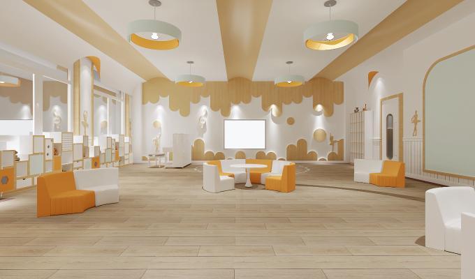 现代幼儿园教室 活动中心