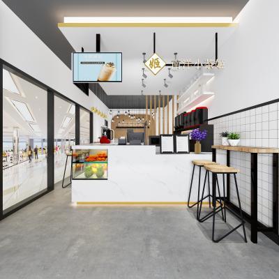 工业风奶茶咖啡店 操作台 吧台