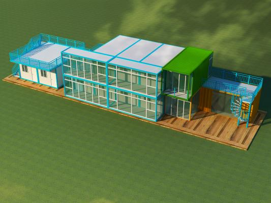 现代集装箱厂房