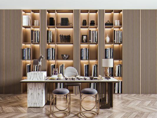 现代茶桌椅组合 茶桌 圆凳