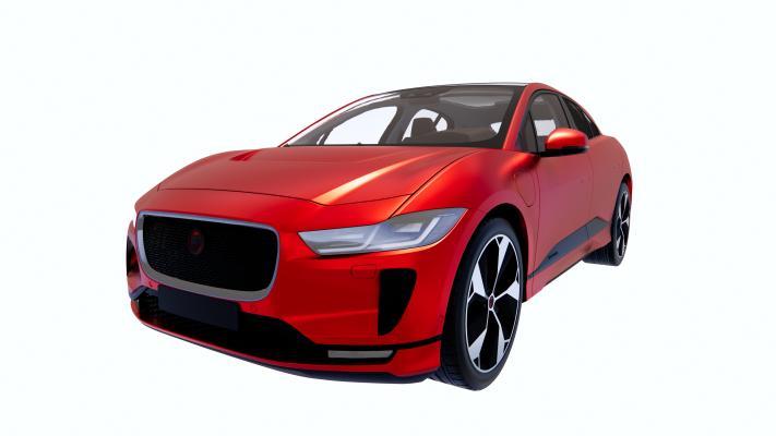 现代红色汽车