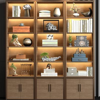新中式实木装饰柜子 饰品组合