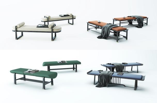 新中式床尾凳 换鞋凳组合