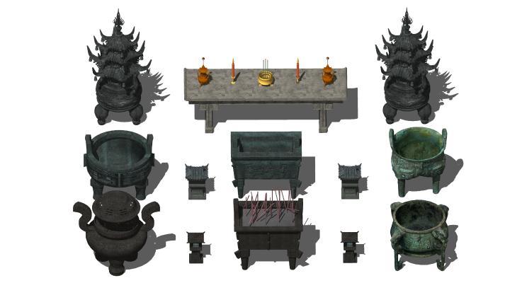 中式青铜鼎 青铜器