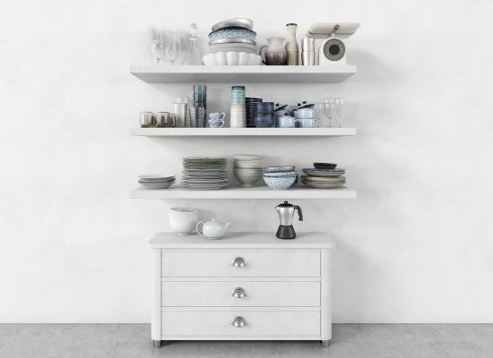 现代餐具组合 厨房摆件 厨卫器具