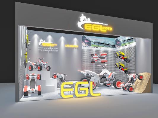 现代摩托车展厅