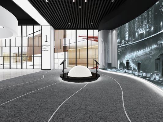 现代科技全息投影展厅
