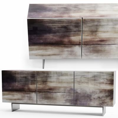 現代彩紋邊柜 電視柜 玄關柜