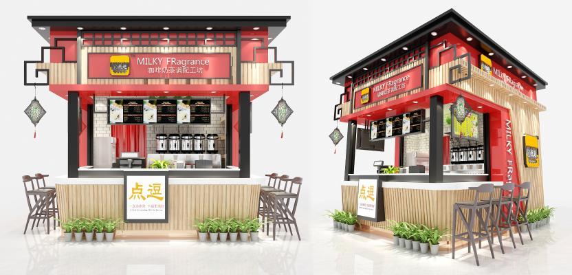 新中式咖啡奶茶店 不锈钢工作台