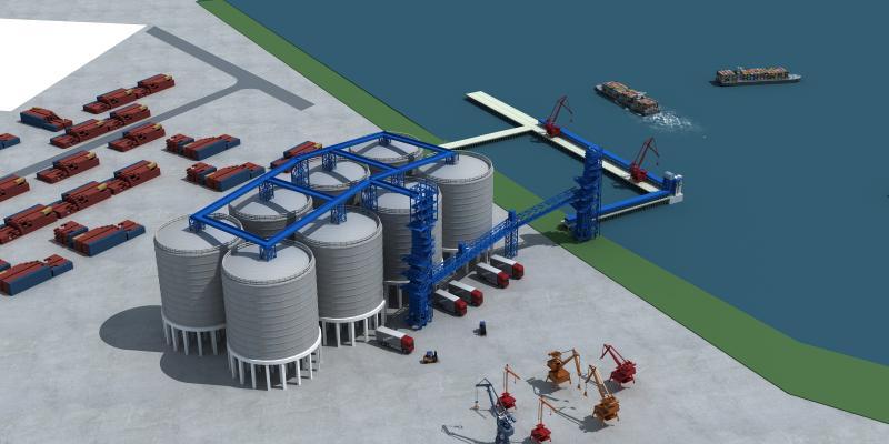 现代码头装卸设备 转运码头