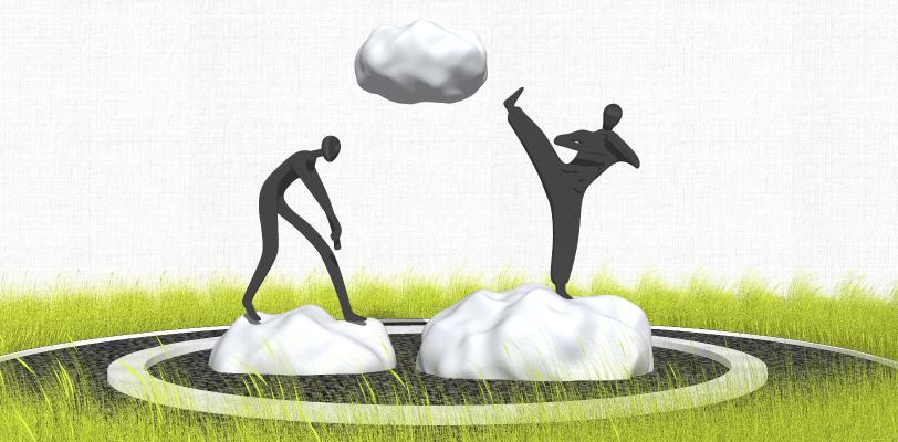 現代風格創意人物雕塑小品 住宅小區云朵雕塑景觀 示范區草坪景觀