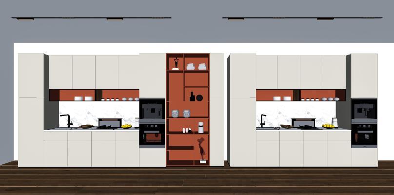 现代橱柜 厨具 水槽
