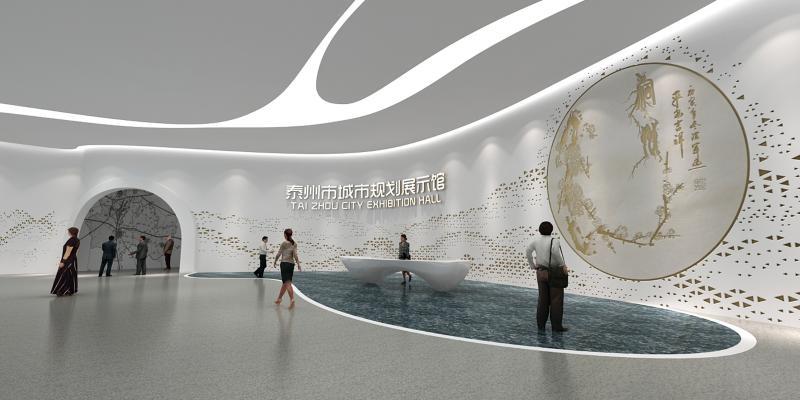 现代风格展厅 城市规划展厅