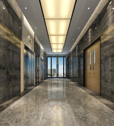现代酒店电梯间