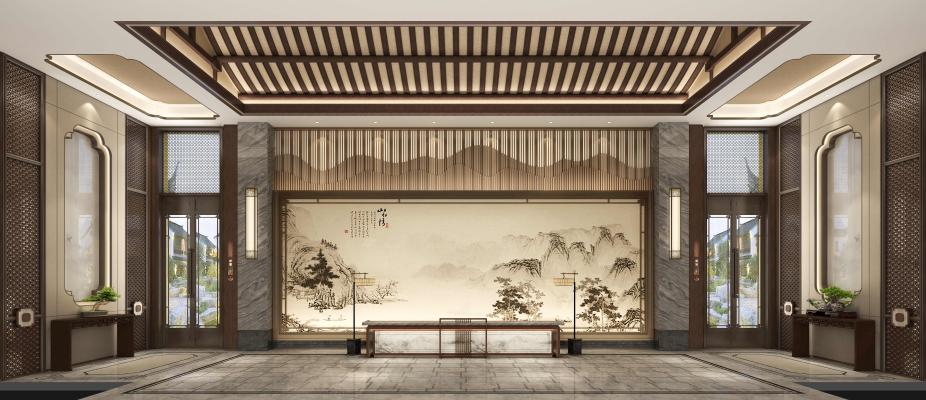 新中式酒店大小唯始�K不怎么放心堂 入口