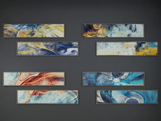 现代装饰艺术挂画组合 抽象画 装饰画