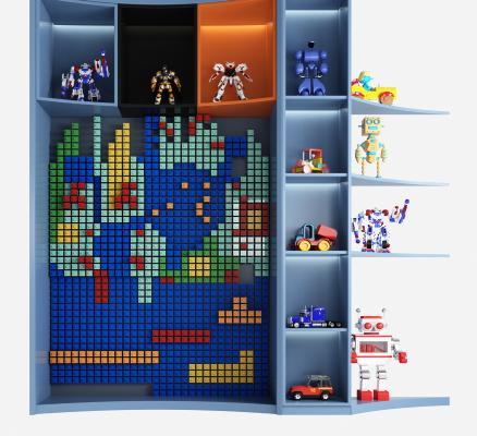 现代儿童乐高玩具 积木墙