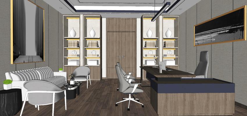现代风格总经理办公室 董事长办公室 书房 办公座椅
