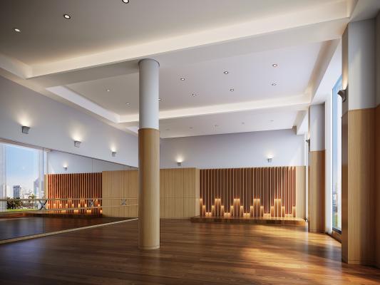现代健身操室 舞蹈教室 瑜伽室