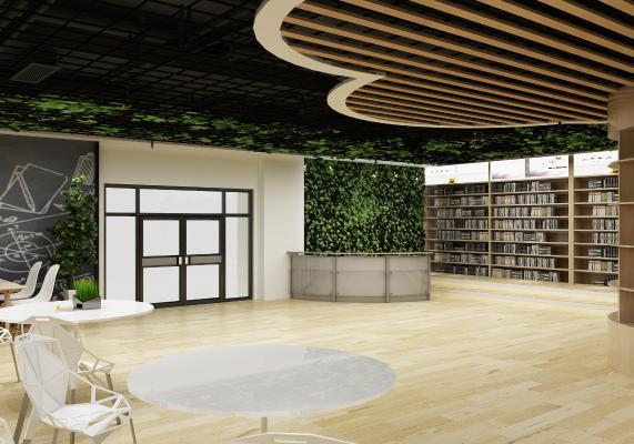 现代图书馆 阅览室 读书室
