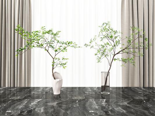 现代植物摆件