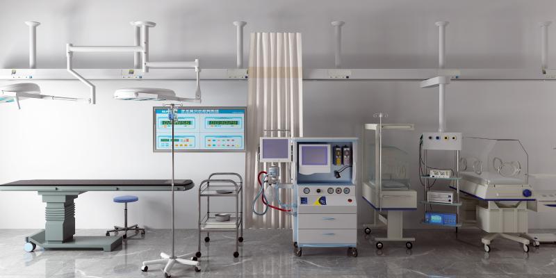 现代手术台 输液架 医疗器材