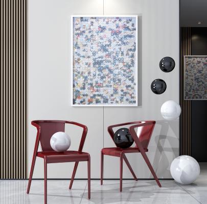 现代轻奢艺术单椅 休闲椅