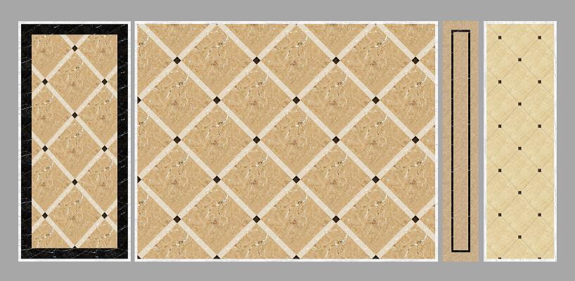 简欧瓷砖地花组合