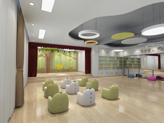 北欧风幼儿园 音乐室