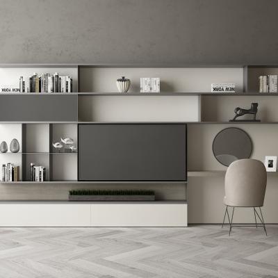 现代电视背景柜