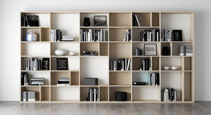 现代书柜装饰柜摆件组合