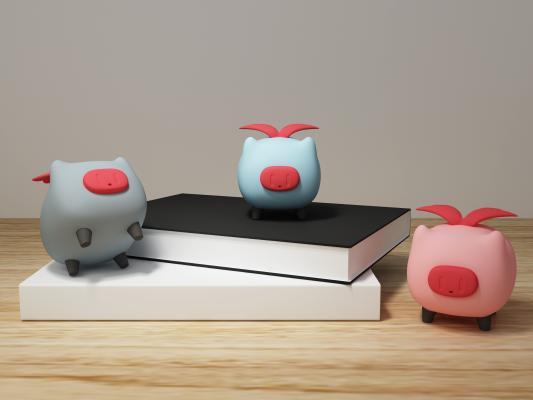 现代卡通动物猪音响