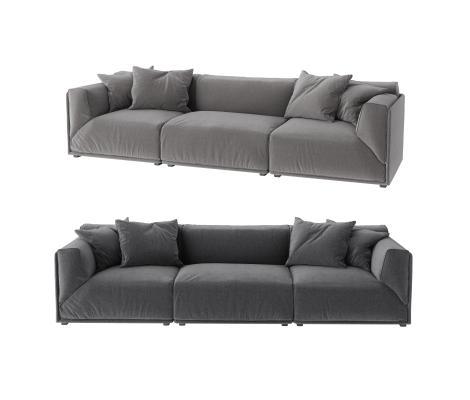 现代三人沙发 双人沙发