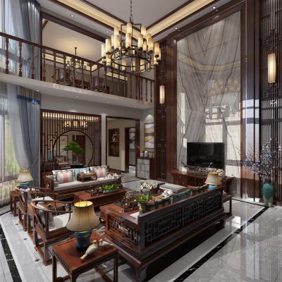 中式别墅大堂