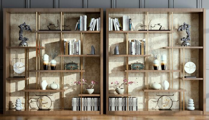 新中式柜子 装饰画 摆件