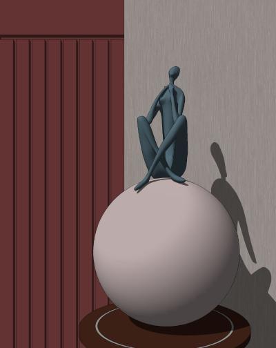 现代人物雕塑 艺术摆件