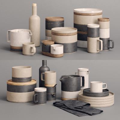 现代厨房 餐具 碗碟组合