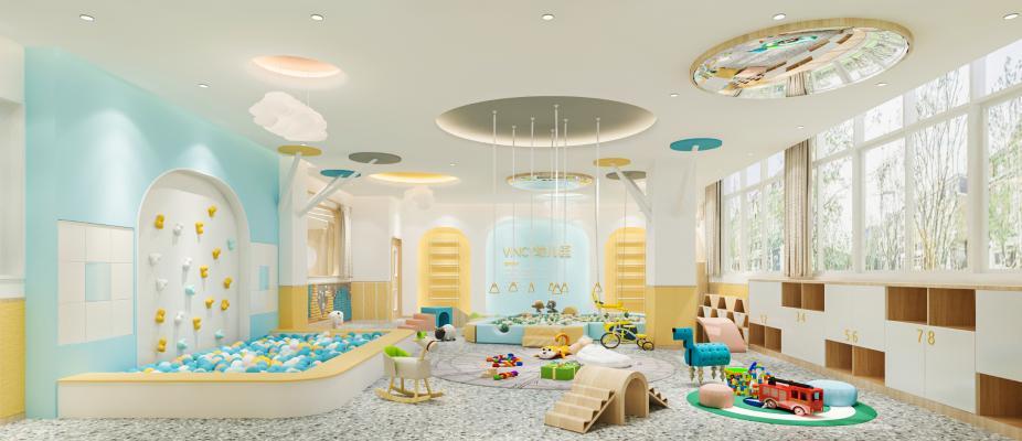 现代幼儿园 玩耍区 活动室