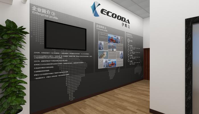 现代公司走廊 背景墙