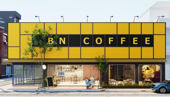 现代咖啡厅门头