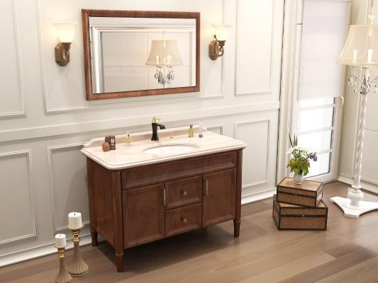 美式浴室柜 浴室