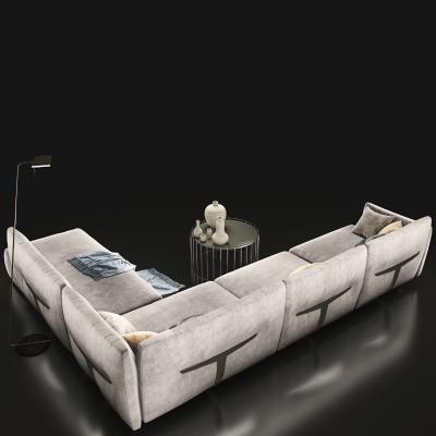 现代绒沙发