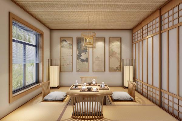 日式榻榻米房 书房