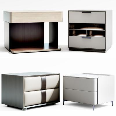 现代床头柜