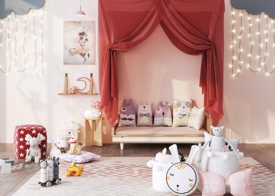 北欧儿童床 玩具